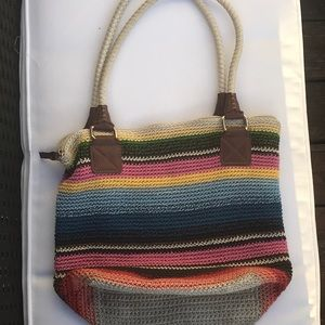 The sak multi color weave purse